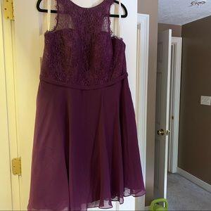 Cocktail length bridesmaids dress